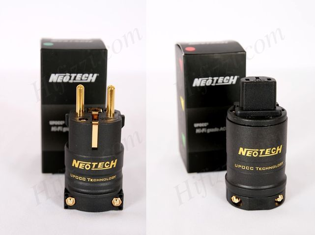 Neotech NC-P303 OCC EU power plug Gold