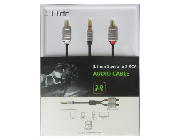 TTAF NANO 3.5mm - 2 RCA Audio Cable 3m