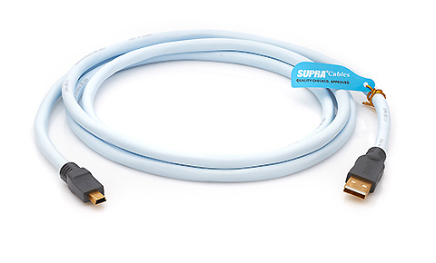 Supra USB 2.0 A-mini B Blue 3m