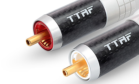 TTAF 93400 Professional RCA Connector Carbon, пара