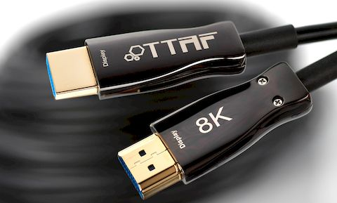 TTAF HDMI 2.1 48 Gbps AOC Cable 24K Gold 12.5m